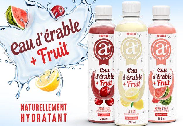 Récemment primé, le jus à l'érable et aux fruits d'Anti Plus est un exemple des produits à base d'eau d'érable offerts sur le marché. Crédit photo : Gracieuseté d'Anti Plus