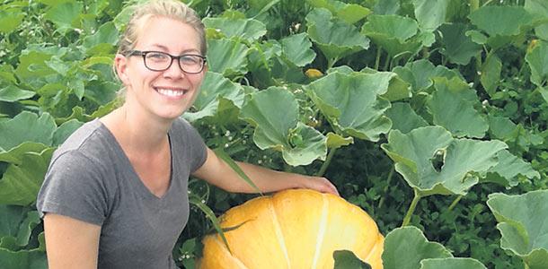 Marilyn Ouellet est devenue propriétaire avec son conjoint de la ferme qui leur fournissait des paniers de légumes biologiques alors qu'ils habitaient encore à Montréal. Gracieuseté de Marilyn Ouellet.
