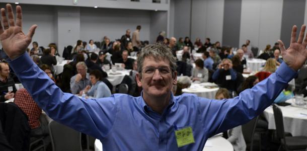 Serge Pageau, un organisateur grandement satisfait. Crédit photo : Pierre Saint-Yves