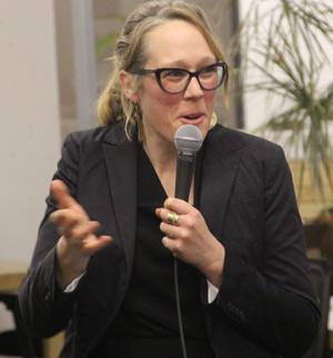 Laura Howard, cofondatrice de Récolte, souhaite établir des ponts pour faciliter le financement de la relève. Crédit photo : Thierry Larivière/TCN