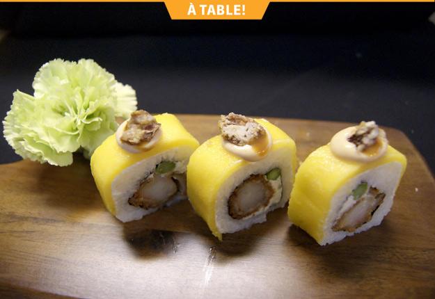 À L'Entracte, en plus du menu régulier, on retrouve un menu sushi très impressionnant.