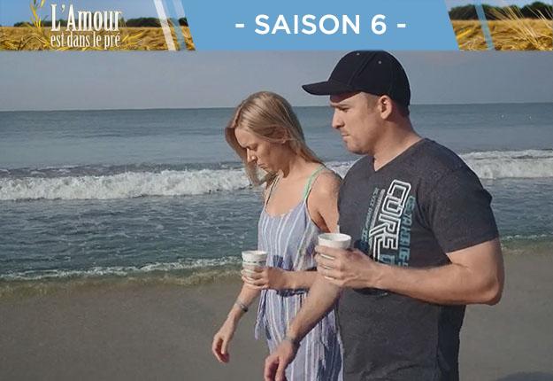 Maxime a profité d'une balade sur la plage avec Audrey pour lui avouer qu'il avait eu des rapprochements avec Mireille pendant la semaine à la ferme.
