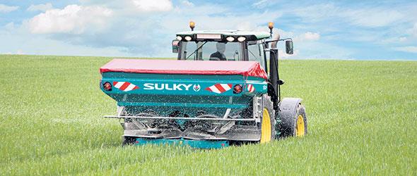 L'un des épandeurs de précision Sulky vendus par la firme québécoise Innotag.