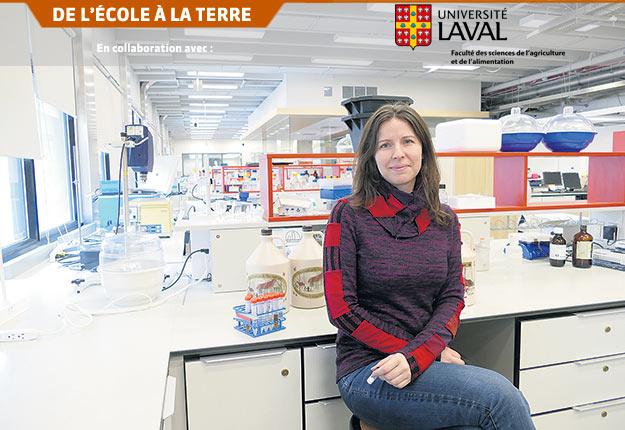 La chercheuse Marie Filteau et son équipe tentent de percer le mystère de la variation de la qualité du sirop. Crédit photo : FSAA