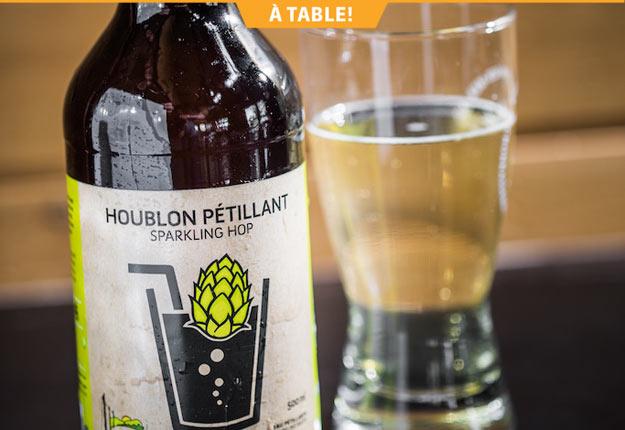 Le Houblon pétillant est une boisson désaltérante sans alcool et sans sucre élaborée à partir de houblon provenant de l'agriculture responsable.