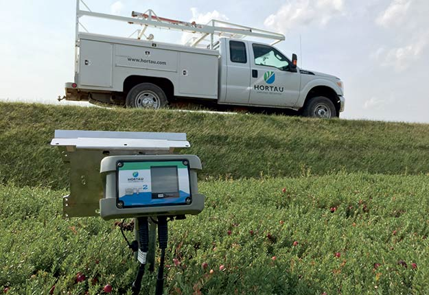 Hortau commercialise une technologie capable de prédire les besoins en eau propres à chaque parcelle.