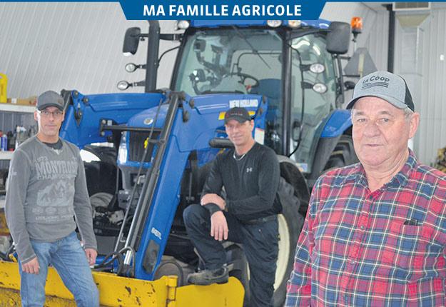 Gérard Montour en compagnie de ses fils Patrick (à gauche) et Yves. Crédit photos : Pierre Saint-Yves