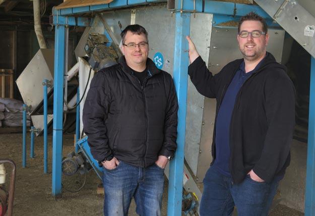 Steve Lévesque et Marc Dufour, propriétaires de l'entreprise.
