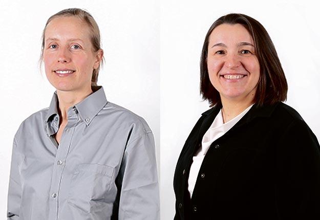 Annabelle Firlej, chercheure et Sonia Caron, responsable des ressources humaines.