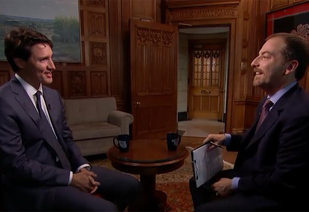 Justin Trudeau en entrevue exclusive avec l'animateur Chuck Todd, de l'émission Meet the Press, dans une entrevue enregistrée le 1er juin et diffusée le 3 juin. Crédit : Meet the Press/NBC