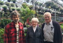 Guy Provost et ses parents, Jacqueline Hardy et Roger Provost, dans l'une des 33 serres qui composent l'entreprise. Photos : Geneviève Quessy