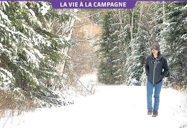Entre deux entraînements, l'hiver l'athlète aime faire un retour aux sources, à Ferland-et-Boilleau, au Saguenay–Lac-Saint-Jean. Crédit photo: Gracieuseté
