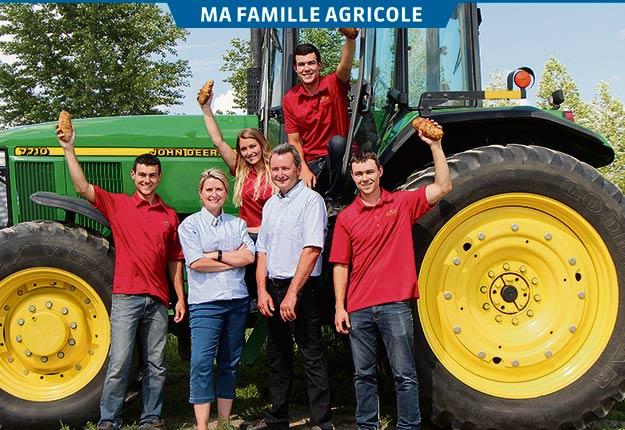 Les membres de la famille Dionne de Cookshire sont fiers producteurs de pommes de terre. Celles-ci sont devenues en quelque sorte leur marque de commerce. Crédit photos: Rosalie Dion/TCN