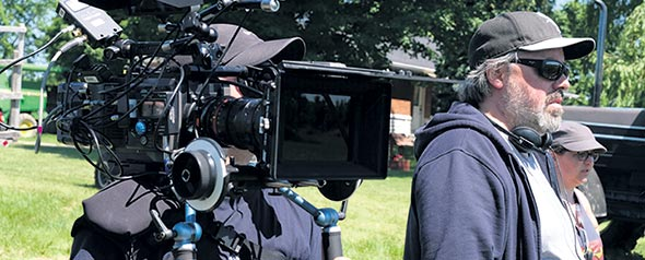 L'intrigue de la prochaine série télé réalisée par Francis Leclerc se déroule dans une ferme familiale. La diffusion de 5erang est prévue pour janvier 2019. Crédit photo : Bertrand Calmeau