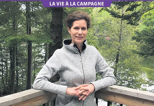 À la campagne, Catherine Perrin a l'impression d'avoir 30livres de moins sur les épaules. Crédit photos : Gracieuseté de Catherine Perrin