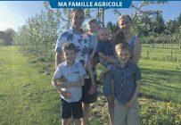 Mathieu Gourdes-Vachon et Kathy Létourneau, entourés de leurs enfants Jérémy, Féebie, William et Zackary. Crédit photos : Marie-Pascale Fortier