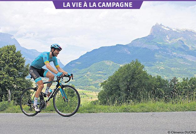 Le cycliste partage son temps entre le Québec et l'Europe, où il a choisi d'habiter à Saint-Restitut, un village éloigné de Provence. Gracieuseté d'Hugo Houle
