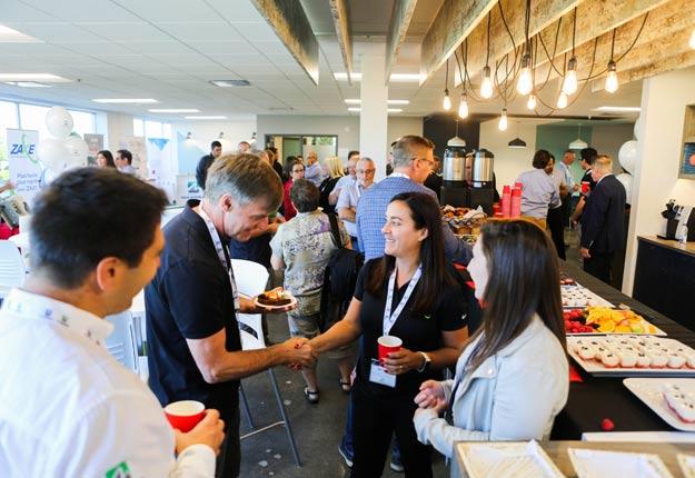 La première édition des Conférences Ag Tech de Maximus a offert une belle occasion de réseautage aux participants. Crédit photo : Safia Barrou, VIR2AL