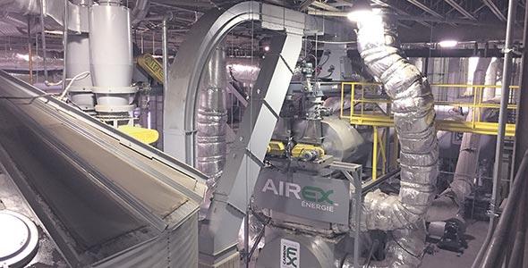 L'usine de Bécancour a la capacité de produire plus de 5000tonnes métriques de biocharbon par année. Crédit photo : Gracieuseté d'Airex Énergie