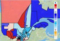 Retrouvez la carte électorale comprenant les prédictions des luttes les plus chaudes sur le site Qc125.com. Crédit photo : Capture d'écran Qc125.com