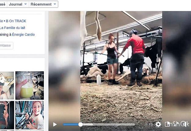 « On n'a pas de reconnaissance, car personne ne voit notre ouvrage », dit Élisa Myriam Tassé. Pour valoriser son métier, l'agricultrice a filmé tout le travail qu'exige parfois le vêlage d'une vache et a eu l'excellente idée de publier la vidéo en accéléré afin d'en faciliter le visionnement. Elle souligne aussi l'importance « d'avoir des lieux et des animaux propres afin de projeter une bonne image sur Facebook ».