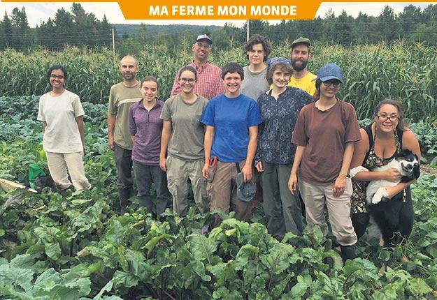 La grande famille de la Pépinière aux arbres fruitiers. Crédit photo: Geneviève Quessy