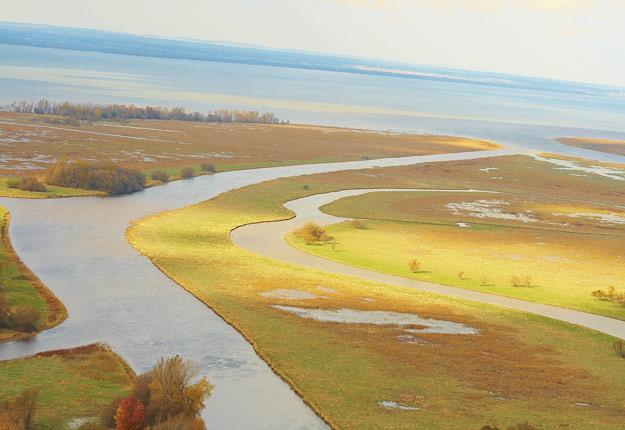 Des frais d'environ 20 $ par mètre carré seront exigés pour développer un projet en milieu humide, sauf pour certaines exemptions. Crédit photo : Martin Ménard/Archives TCN