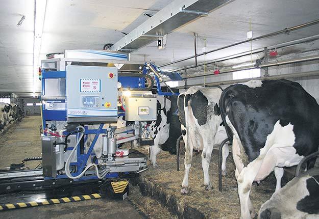 L'accélération de la robotisation dans les fermes laitières incite des analystes de Valacta à demander l'appui des agronomes dans leurs efforts de conscientisation des producteurs. Crédit photo : Archives/TCN