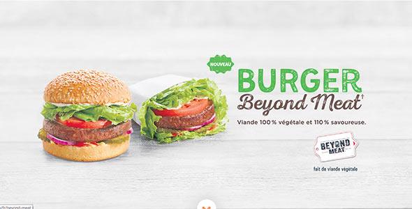 La nouvelle campagne publicitaire de la chaîne de restauration rapide A&W mousse sa « viande végétale ». Crédit photo : A&W