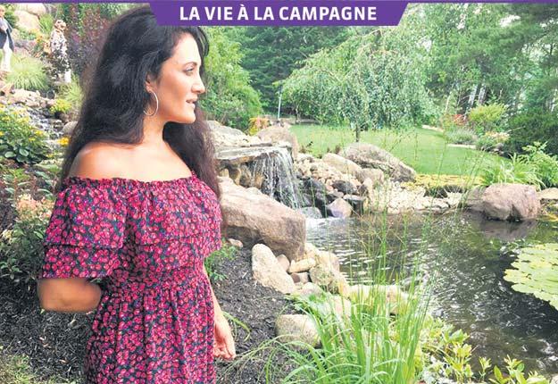 Lorsqu'elle est en tournée à l'étranger, la diva italo-québécoise Giorgia Fumanti a hâte de retrouver le calme de sa forêt. Crédit photos : Gracieuseté