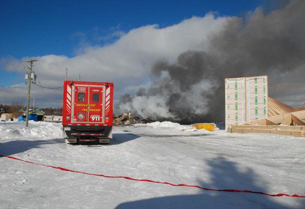 La Ferme avicole Paul Richard & Fils a dû faire face à un 2e incendie en cinq mois. Crédit : François Munger, Médiat