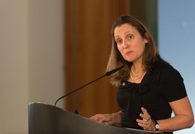 « Les discussions sont en cours », a indiqué l'attaché de presse de la ministre des Affaires étrangères, Chrystia Freeland, le 29 novembre. Crédit photo : Shutterstock.com