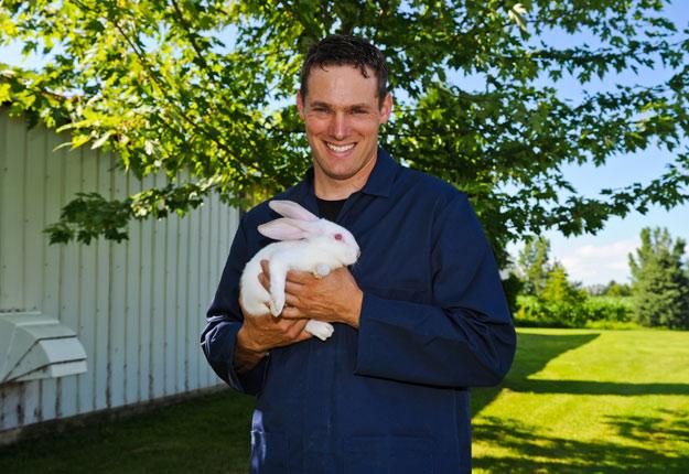Julien Pagé, président du Syndicat des producteurs de lapins du Québec. Crédit photo: Archives/TCN