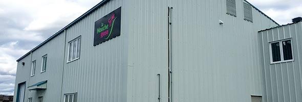 La nouvelle usine est située derrière les locaux du consortium de recherche Prisme,  à Saint-Patrice-de-Sherrington. Actuellement, 10 à 20millions de mouches stériles sont lâchées chaque année. Crédit photo : Myriam Laplante El Haïli/TCN