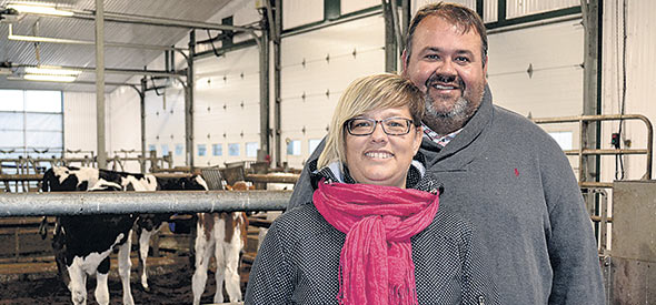 Christian Vigneault et sa conjointe Marylène apprécient le soutien qu'ils reçoivent de la part de tous les spécialistes en production bio.