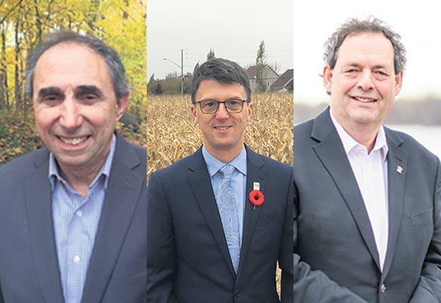 De gauche à droite, Normand Marinacci, Alain Laplante et Pierre Charron.
