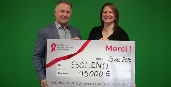 Alain Poirier, Président de Soleno et Karine-Iseult Ippersiel, Vice-présidente, développement, partenariats et alliances stratégiques.