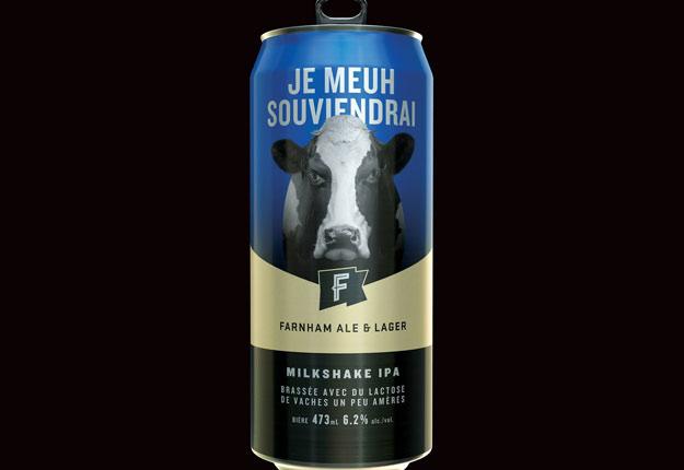 La bière Je meuh souviendrai est brassée avec du lactose de vaches « un peu amères », précise son fabricant. Crédit photo : Gracieuseté de Farnham Ale & Lager