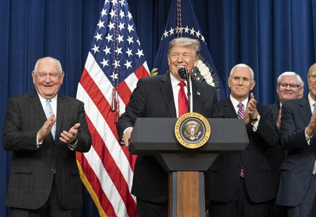 Le président des États-Unis vient d'approuver le Farm Bill. Crédit photo : whitehouse.gov
