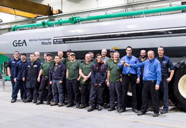 L'équipe de production de jour à l'usine de GEA à Drummondville, au Canada. Crédit photo : GEA