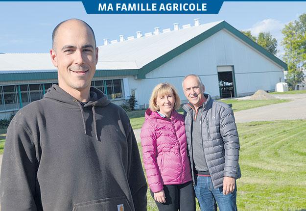 Simon Lefebvre est maintenant actionnaire de l'entreprise familiale avec ses parents Lucie Rainville et Claude Lefebvre. Crédit photos: Pierre Saint-Yves