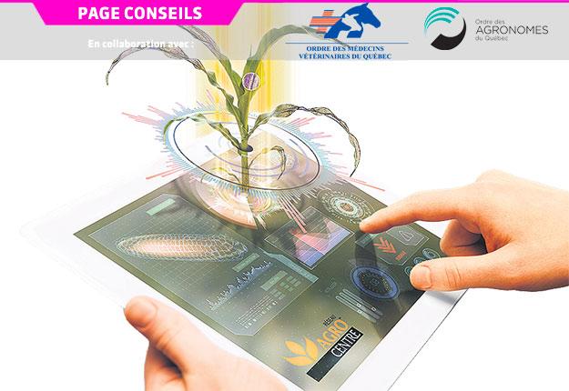 Sur le marché, on retrouve déjà des applications qui transmettent des données en temps réel lors de l'épandage. Crédit photo : Agrocentre