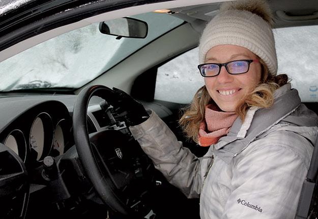 Vicky Beaudoin sillonne les rangs du Québec avec un seul objectif: venir en aide aux agriculteurs qui vivent de la détresse. Crédit photo : Charles Prémont