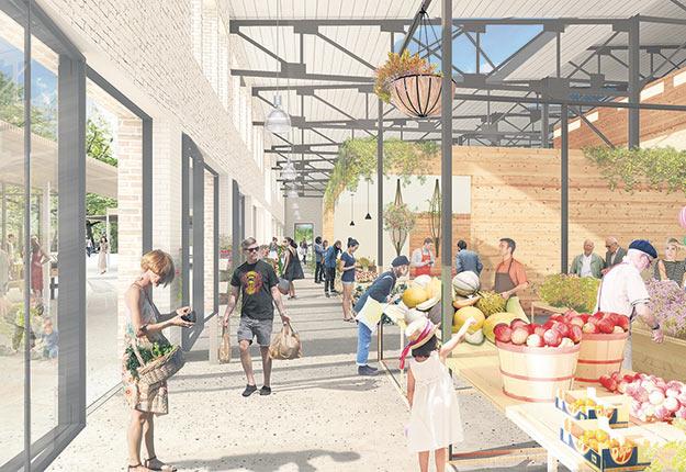 Le nouveau marché mettra 80étals saisonniers à la disposition des producteurs maraîchers et d'autres marchands. Crédit photo : Ville de Québec