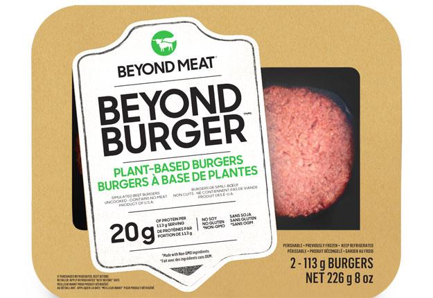 Les galettes à hamburgers 100 % végétales de Beyond Meat seront offertes dans les comptoirs de viande de plus de 3 000 épiceries au Québec. Crédit photo : Gracieuseté de Beyond Meat