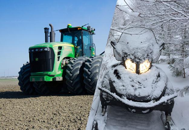 On prévoit un mois de mai plus froid que la normale. Certains agriculteurs se promèneront peut-être en motoneige au lieu de semer. Crédit photos : Martin Ménard / TCN