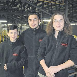 Jérémy, Zachary et Thierry s'impliquent dans l'entreprise, chacun à sa façon.