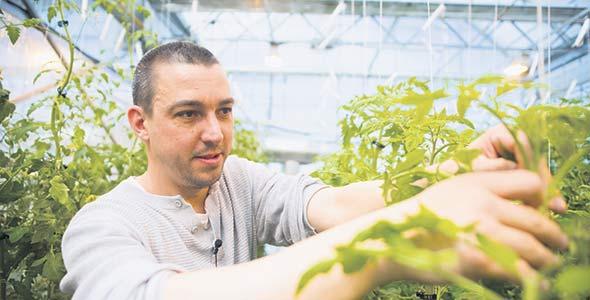 Le professeur Pierre-Antoine Gilbert est particulièrement fier des nouvelles installations, qui misent sur des serres dernier cri.