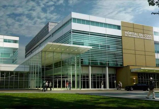 Maquette du futur hôpital de Vaudreuil-Soulanges. Photo: MRC de Vaudreuil-Soulanges