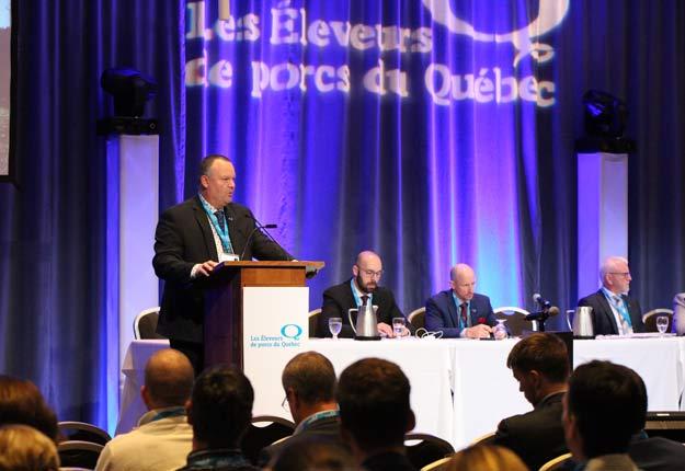 David Duval a été reconduit à la tête des Éleveurs de porcs du Québec. Photo : Myriam Laplante El Haïli/TCN